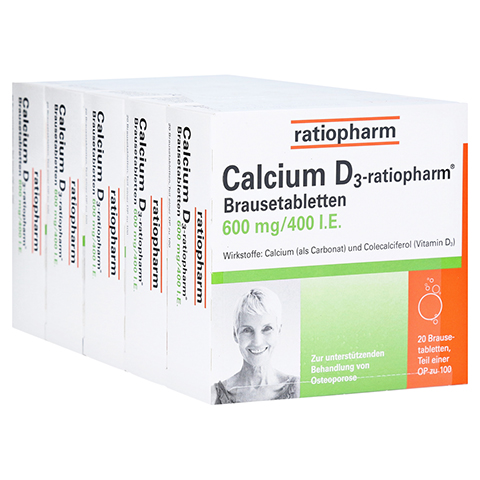 Calcium D3-ratiopharm 600mg/400 I.E. 100 Stück