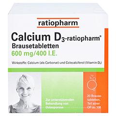 Calcium D3-ratiopharm 600mg/400 I.E. 100 Stück - Vorderseite