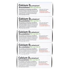 Calcium D3-ratiopharm 600mg/400 I.E. 100 Stück - Unterseite
