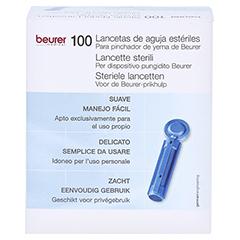 Beurer Nadel-lanzetten Steril 100 Stück - Rückseite