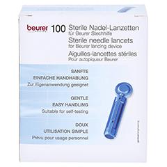 Beurer Nadel-lanzetten Steril 100 Stück - Vorderseite