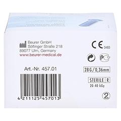 Beurer Nadel-lanzetten Steril 100 Stück - Unterseite