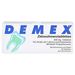 DEMEX Zahnschmerztabletten 20 Stück - Vorderseite