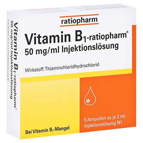 Vitamin B1-ratiopharm 50mg/ml Injektionslösung 5x2 Milliliter N1