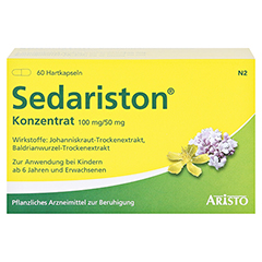 Sedariston Konzentrat 60 Stück N2 - Vorderseite