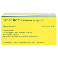 Sedariston Konzentrat 60 Stück N2 - Unterseite