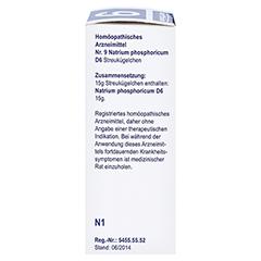 BIOCHEMIE Globuli 9 Natrium phosphoricum D 6 15 Gramm N1 - Rechte Seite