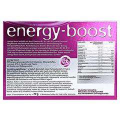ENERGY-BOOST Orthoexpert Trinkgranulat 7x11 Gramm - Rückseite