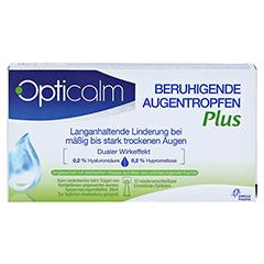 OPTICALM beruhigende Augentropfen Plus in Einzeld. 10x0.5 Milliliter - Vorderseite