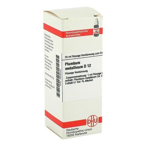 PLUMBUM METALLICUM D 12 Dilution 20 Milliliter N1