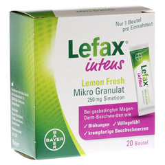 LEFAX intens Lemon Fresh Mikro Granul.250 mg Sim. 20 Stück