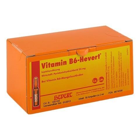 VITAMIN B6 Hevert Ampullen 50x2 Milliliter