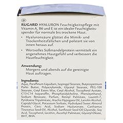 RUGARD Hyaluron Feuchtigkeitspflege 50 Milliliter - Rechte Seite