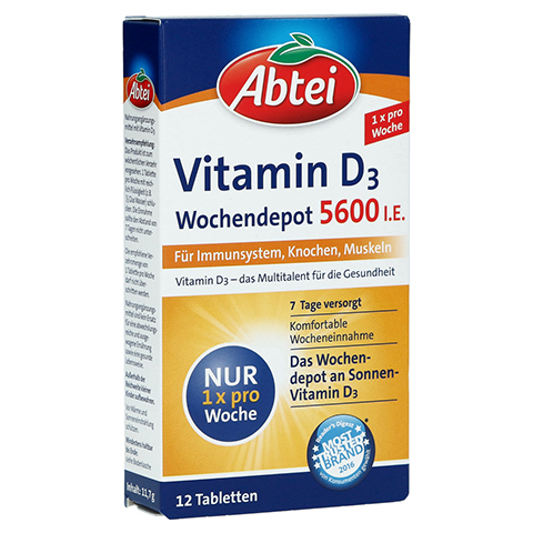 ABTEI Vitamin D3 (Forte Wochendepot) 12 Stück