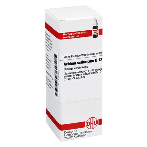 ACIDUM SULFURICUM D 12 Dilution 20 Milliliter N1