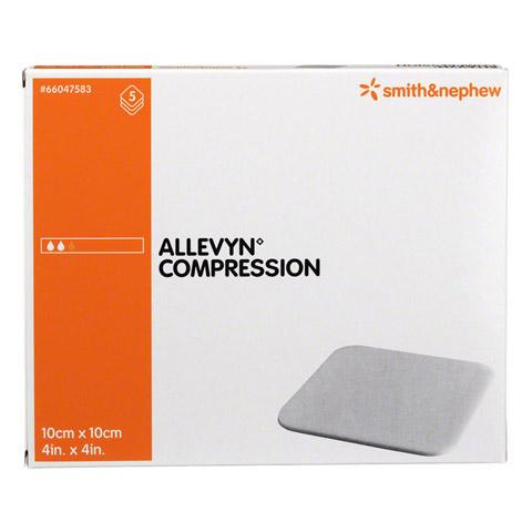 ALLEVYN Compression 10x10 cm hydrosel.Wundauflage 5 Stück