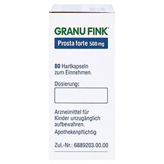 GRANU FINK Prosta forte 500mg 80 St�ck - Linke Seite