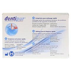 DENTIPUR Schnellreinigungs-Tabletten 30 Stück - Rückseite