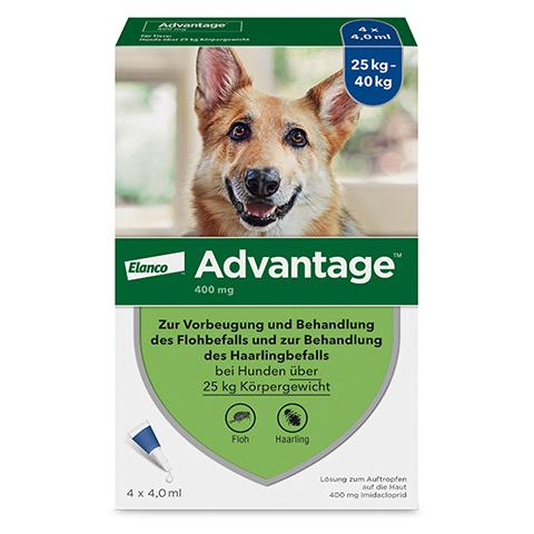 ADVANTAGE 400 L�sung Pipetten Hunde ab 25 kg 1x4 St�ck
