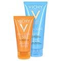 Vichy Ideal Soleil Sonnencreme für das Gesicht LSF 50+ + gratis Vichy Ideal Soleil After-Sun 50 Milliliter