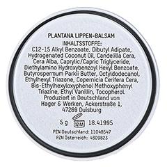 PLANTANA Lippen-Balsam 5 Gramm - Rückseite