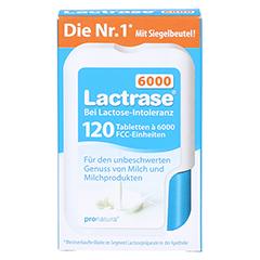 LACTRASE 6.000 FCC Tabletten im Klickspender 120 Stück - Vorderseite