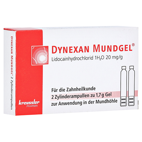DYNEXAN Mundgel Zylinderampullen 2x1.7 Gramm