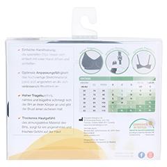MEDELA Schwangerschafts- u.Still-BH XL schwarz 1 Stück - Rückseite