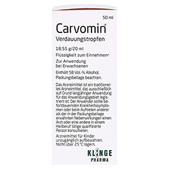 Carvomin Verdauungstropfen 50 Milliliter - Rechte Seite
