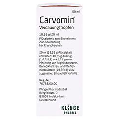 Carvomin Verdauungstropfen 50 Milliliter - Linke Seite