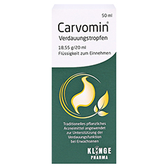 Carvomin Verdauungstropfen 50 Milliliter - Vorderseite