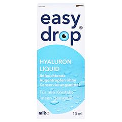 EASYDROP Hyaluron liquid Augentropfen 10 Milliliter - Vorderseite