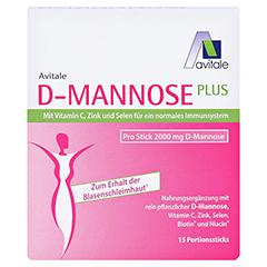 D-MANNOSE Plus 2000 mg m.Vit.u.Mineralstof.Sticks 15x2.47 Gramm - Vorderseite