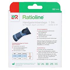 RATIOLINE active Handgelenkbandage Gr.S/M 1 Stück - Rückseite