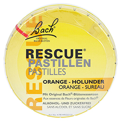 Bach Original Rescue Pastillen Orange-Holunder 50 Gramm - Vorderseite