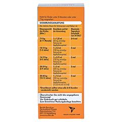 Nurofen Junior Fieber- und Schmerzsaft Orange 40mg/ml 100 Milliliter N1 - Rückseite