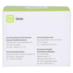 MYLIFE Unio Blutzucker Teststreifen 50 Stück - Rückseite
