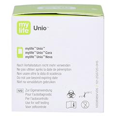 MYLIFE Unio Blutzucker Teststreifen 50 Stück - Linke Seite