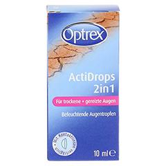 OPTREX ActiDrops 2in1 f.trockene+gereizte Augen 10 Milliliter - Vorderseite