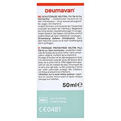 Deumavan Schutzsalbe Neutral Tube 50 Milliliter - Rückseite