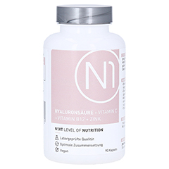 N1 Hyaluronsäure+Vitamin C+Vitamin B12+Zink Kaps. 90 Stück
