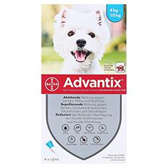 ADVANTIX Spot-on Lsg.z.Auftr.a.d.H.f.Hund 4-10 kg 4 Stück - Vorderseite