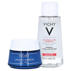 Vichy Liftactiv Supreme Anti-Age Nachtpflege + gratis Vichy Purete Thermale Mizellen Reinigungsfluid 100ml 50 Milliliter