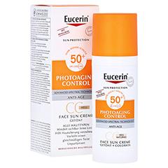 Eucerin Sun Creme getönt hell LSF 50+ 50 Milliliter