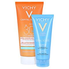 Vichy Ideal Soleil Gel-Milch für nasse oder trockene Haut LSF 30 + gratis Vichy Ideal Soleil After-Sun 200 Milliliter