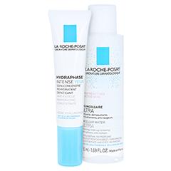 La Roche-Posay Hydraphase Intense Augen Augenpflege + gratis La Roche-Posay Mizellenwasser 15 Milliliter