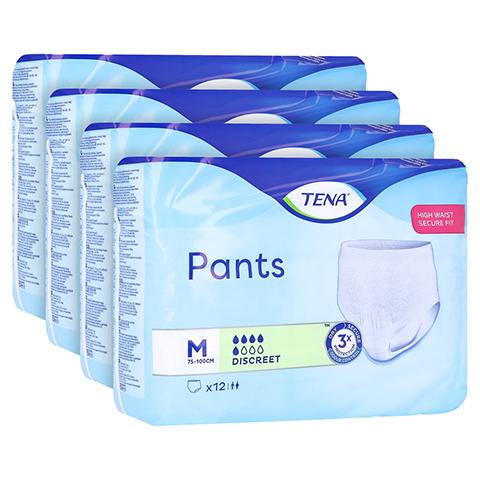 TENA PANTS Discreet M 75-100 cm Einweghose 4x12 Stück