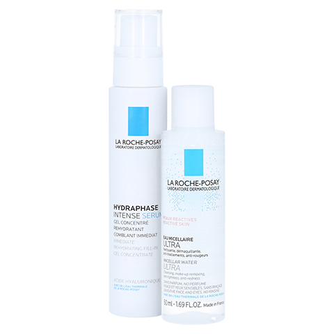 La Roche-Posay Hydraphase Intense Serum Feuchtigkeitsserum + gratis La Roche-Posay Mizellenwasser 30 Milliliter