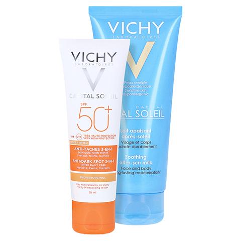 Vichy Ideal Soleil Anti-Pigmentflecken Sonnenpflege für das Gesicht LSF 50+ + gratis Vichy Ideal Soleil After-Sun 50 Milliliter