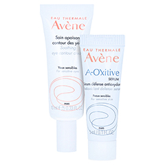 Avène Beruhigende Augencreme + gratis Avène A-OXitive SERUM Schützendes Antioxidans-Serum 5 ml 10 Milliliter